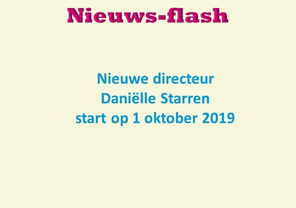 Nieuwe directeur Daniëlle Starren start op 1 oktober 2019.