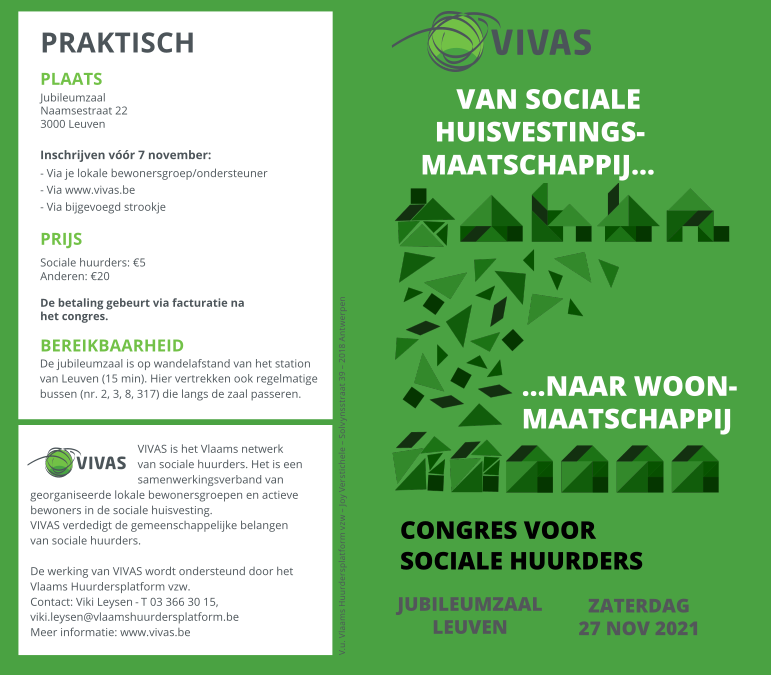 Congres voor sociale huurders (27 november 2021)